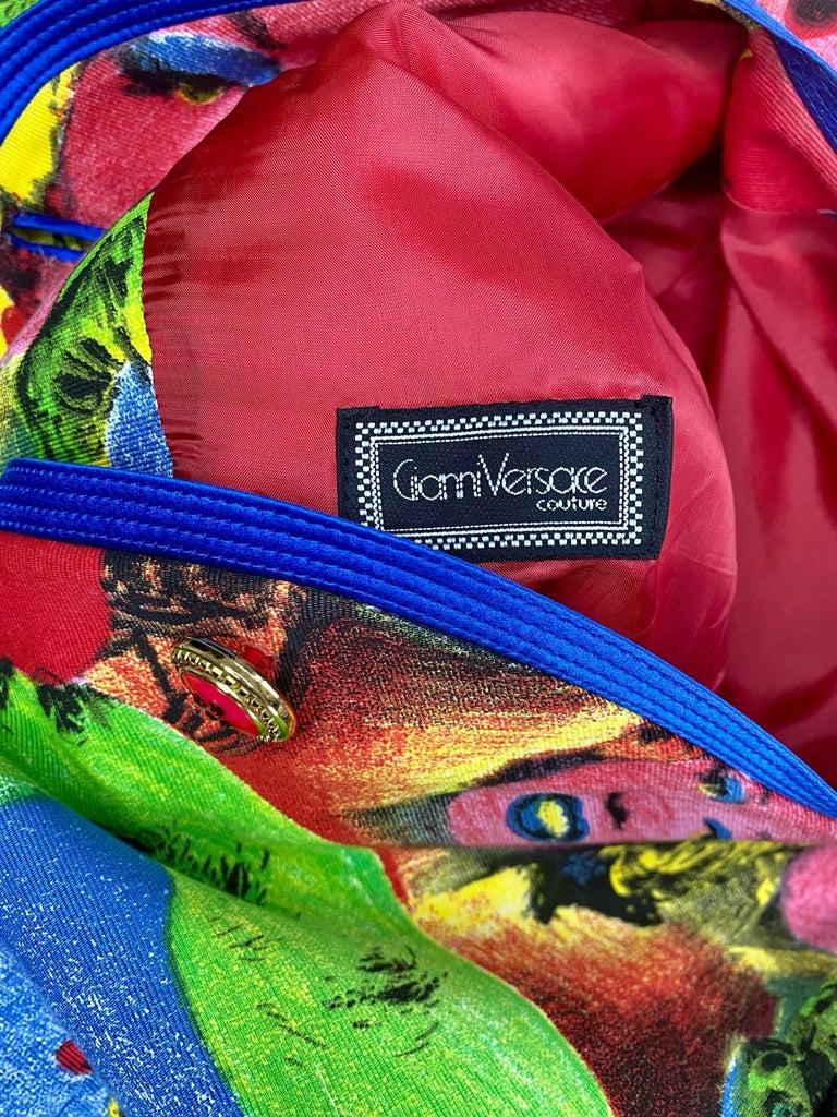 S/S 1991 Gianni Versace Marilyn Monroe Warhol Inspired Print Pop Art Skirt Suit For Sale 5