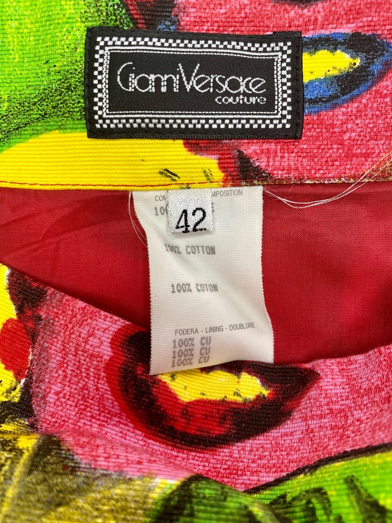 S/S 1991 Gianni Versace Marilyn Monroe Warhol Inspired Print Pop Art Skirt Suit For Sale 9