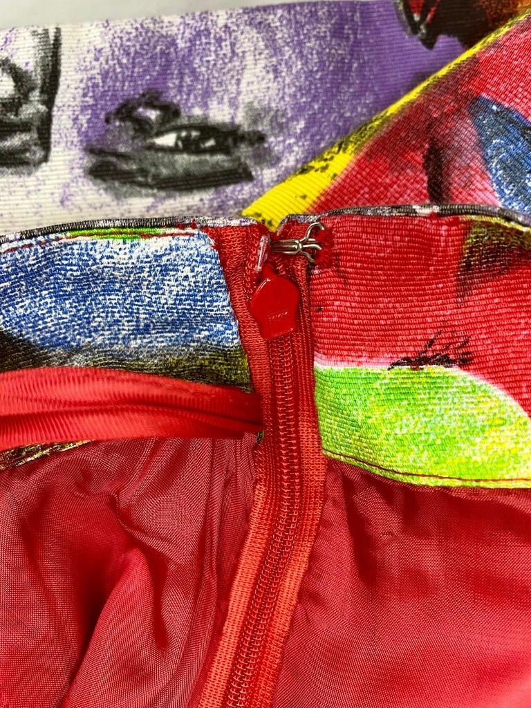 S/S 1991 Gianni Versace Marilyn Monroe Warhol Inspired Print Pop Art Skirt Suit For Sale 10