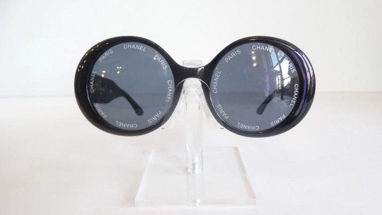S/S 1993 Chanel Paris Circle Sunglasses For Sale 1