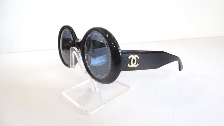 S/S 1993 Chanel Paris Circle Sunglasses For Sale 2