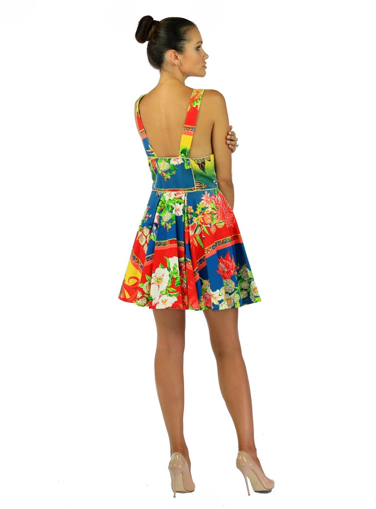 s/s 1993 DOCUMENTED GIANNI VERSACE VERSUS DRESS In Excellent Condition For Sale In Montgomery, TX