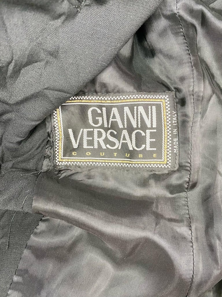 S/S 1994 Gianni Versace Couture Medusa Safety Pin Blazer Runway  For Sale 2