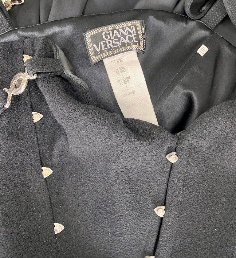 S/S 1995 Gianni Versace Bustier Medusa Corset Dress  For Sale 2