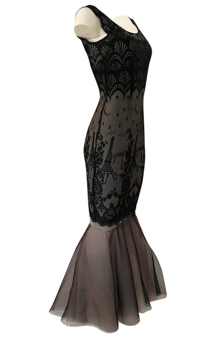 Black S/S 1995 Jean Paul Gaultier Fin de Siècle Collection Runway Paris Dress For Sale