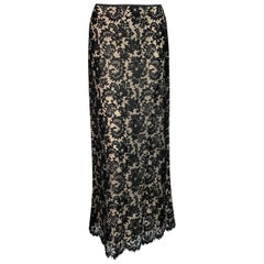S/S 1996 Gucci by Tom Ford Black Lace Long Skirt
