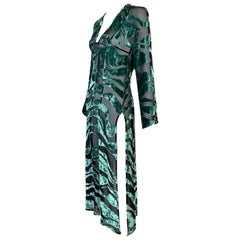 S/S 1996 Gucci by Tom Ford Sheer Black & Green Long Dress