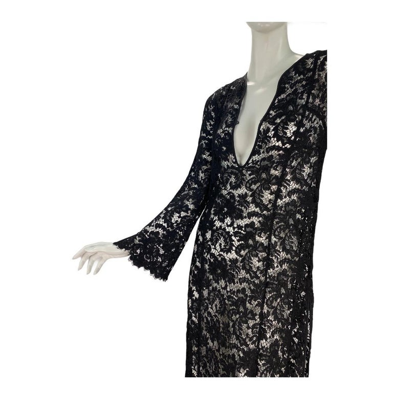 Women's S/S 1996 Vintage Iconic Tom Ford for Gucci Black Lace Dress For Sale