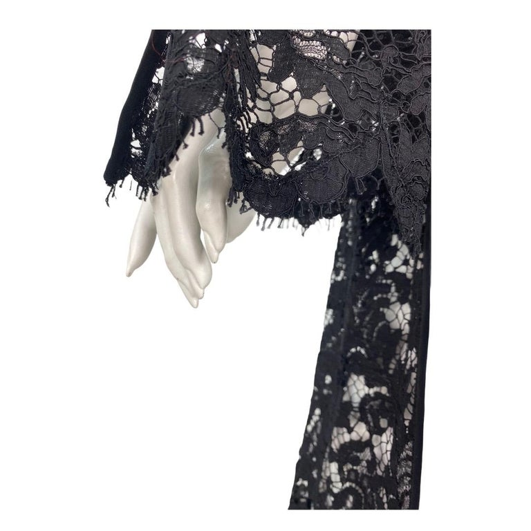 S/S 1996 Vintage Iconic Tom Ford for Gucci Black Lace Dress For Sale 1