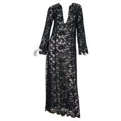 S/S 1996 Vintage Iconic Tom Ford for Gucci Black Lace Dress