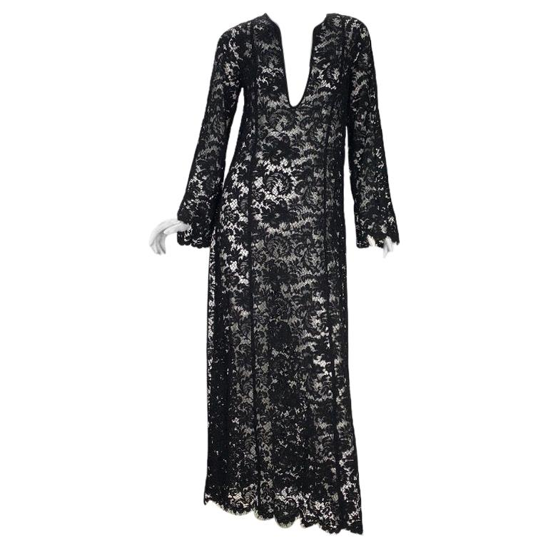 S/S 1996 Vintage Iconic Tom Ford for Gucci Black Lace Dress For Sale