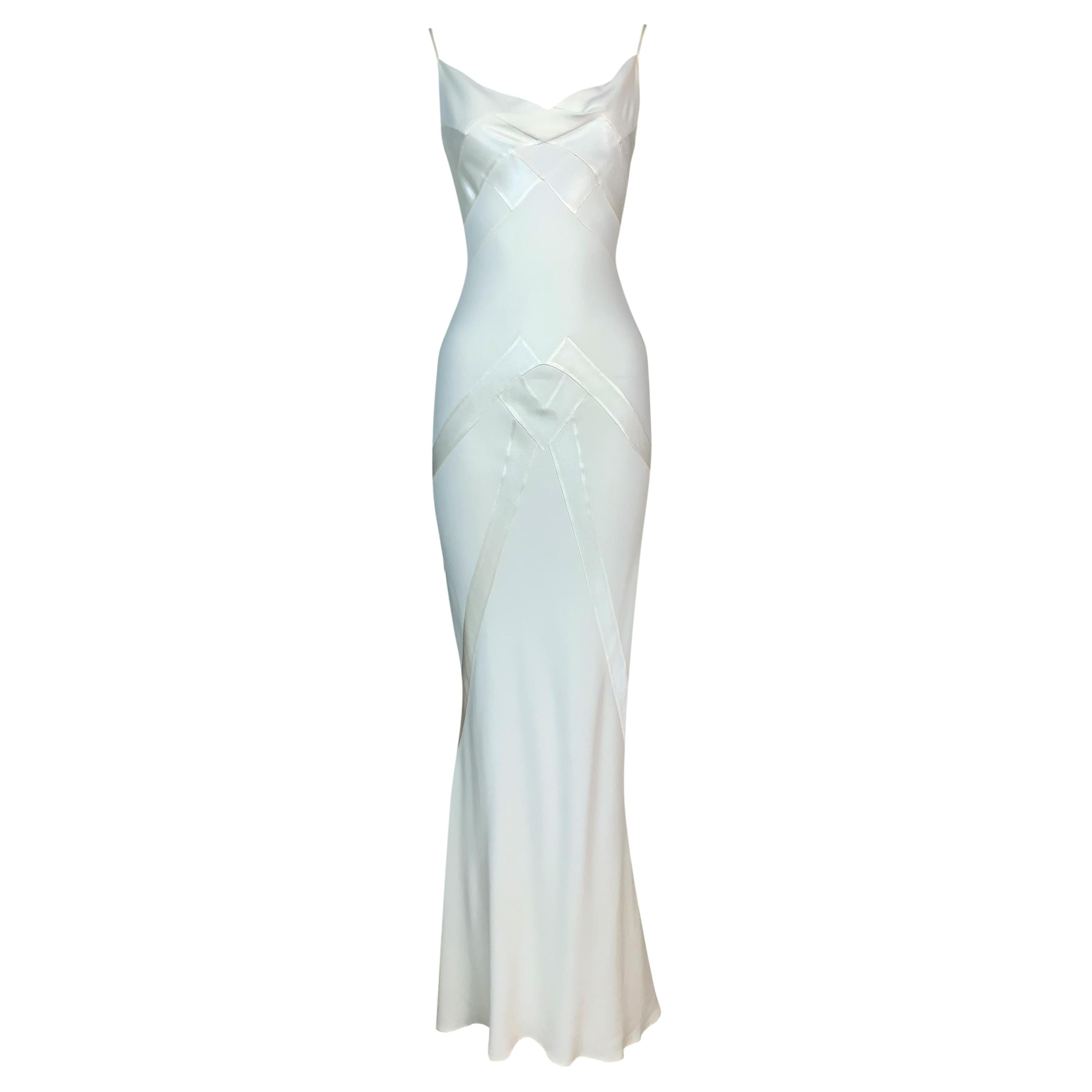 S/S 1998 Christian Dior by John Galliano Ivory Satin Gown Dress
