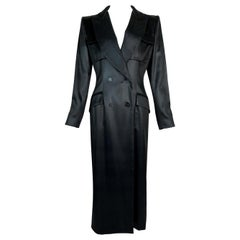 S/S 1998 Christian Dior John Galliano Black Coated Tuxedo Coat Maxi Dress