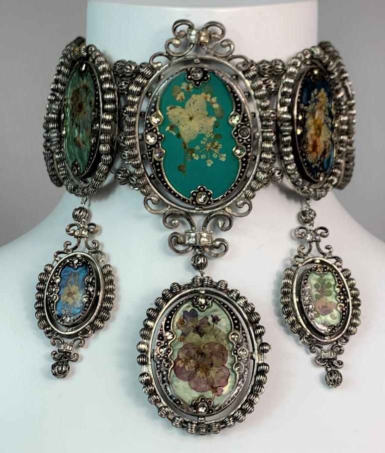 Women's S/S 1998 Christian Dior John Galliano Extra Large Cameo Choker Necklace