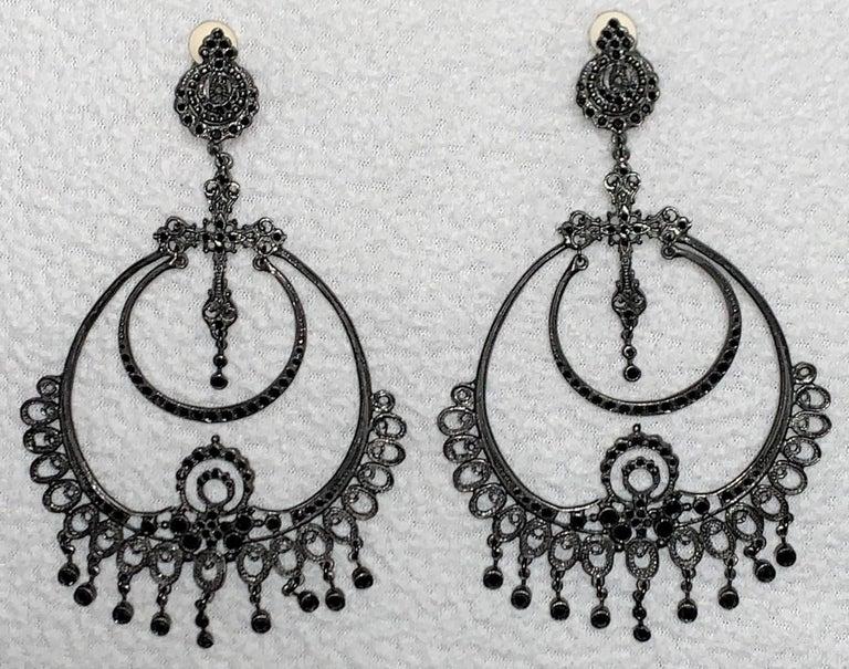 Women's S/S 1999 Christian Dior John Galliano Runway Huge Hoop Earrings w Crosses For Sale