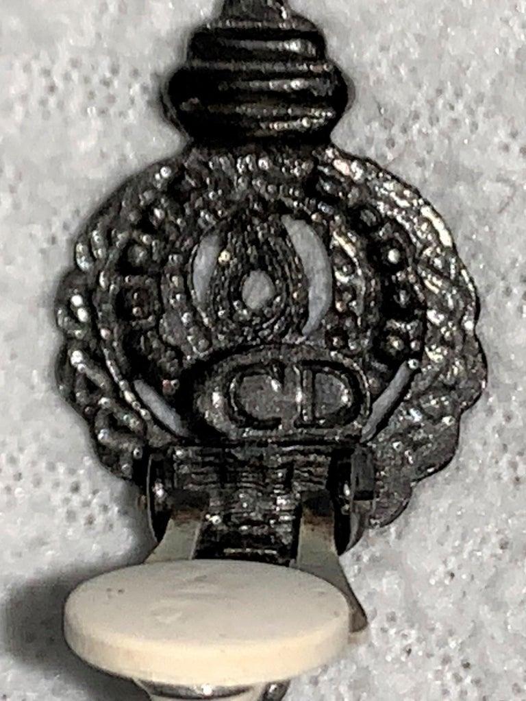 S/S 1999 Christian Dior John Galliano Runway Huge Hoop Earrings w Crosses For Sale 2