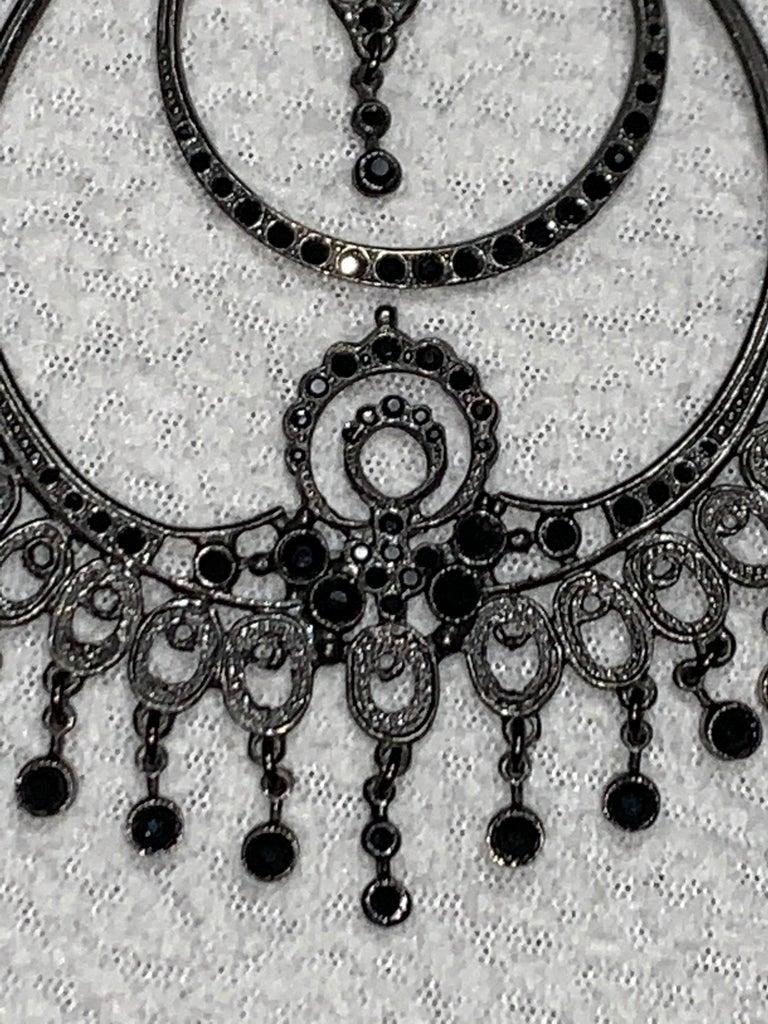 S/S 1999 Christian Dior John Galliano Runway Huge Hoop Earrings w Crosses For Sale 3