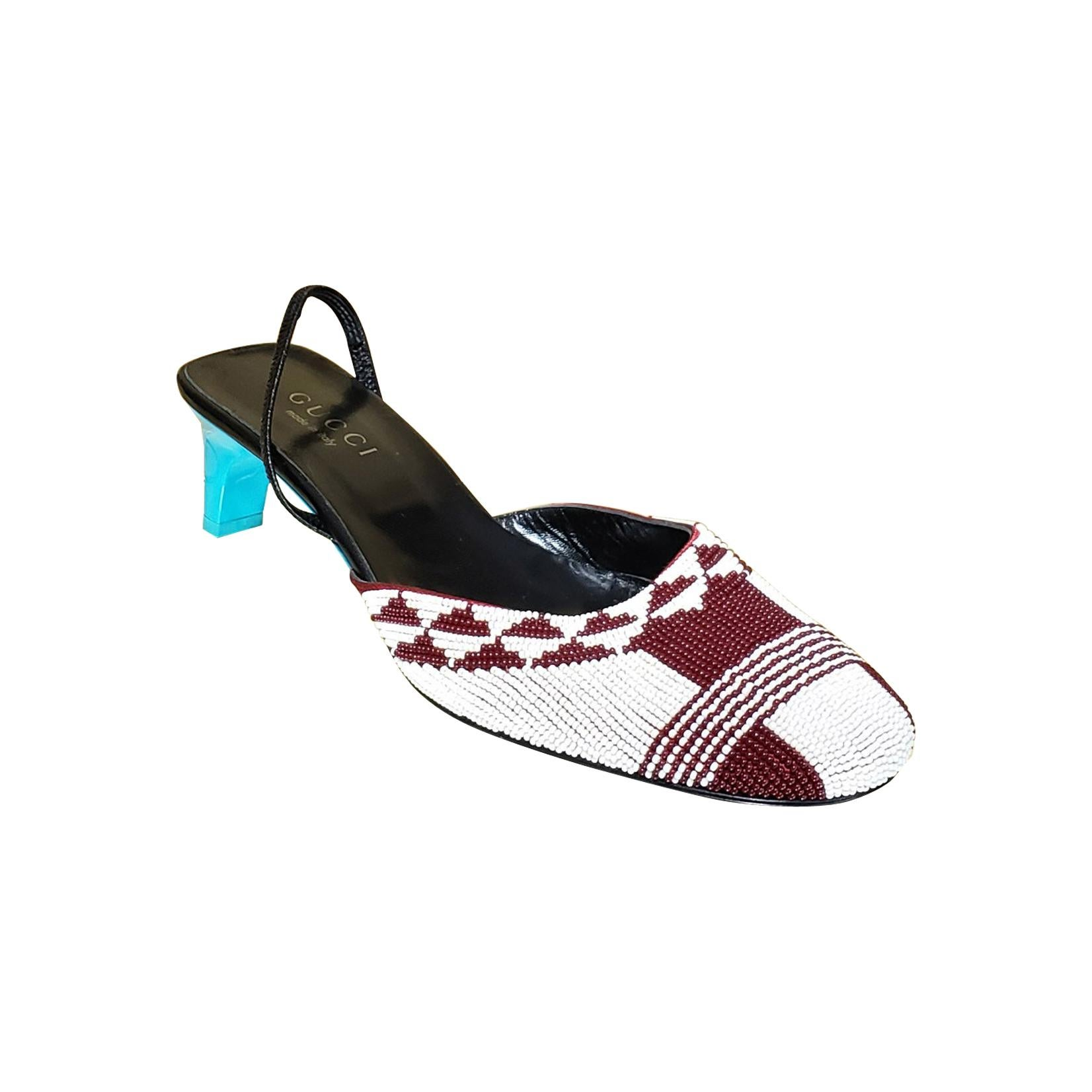 S/S 1999 VINTAGE ICONIC TOM FORD for GUCCI BEADED SHOES  8