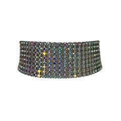 S/S 2000 Dolce & Gabbana Crystal Choker Necklace