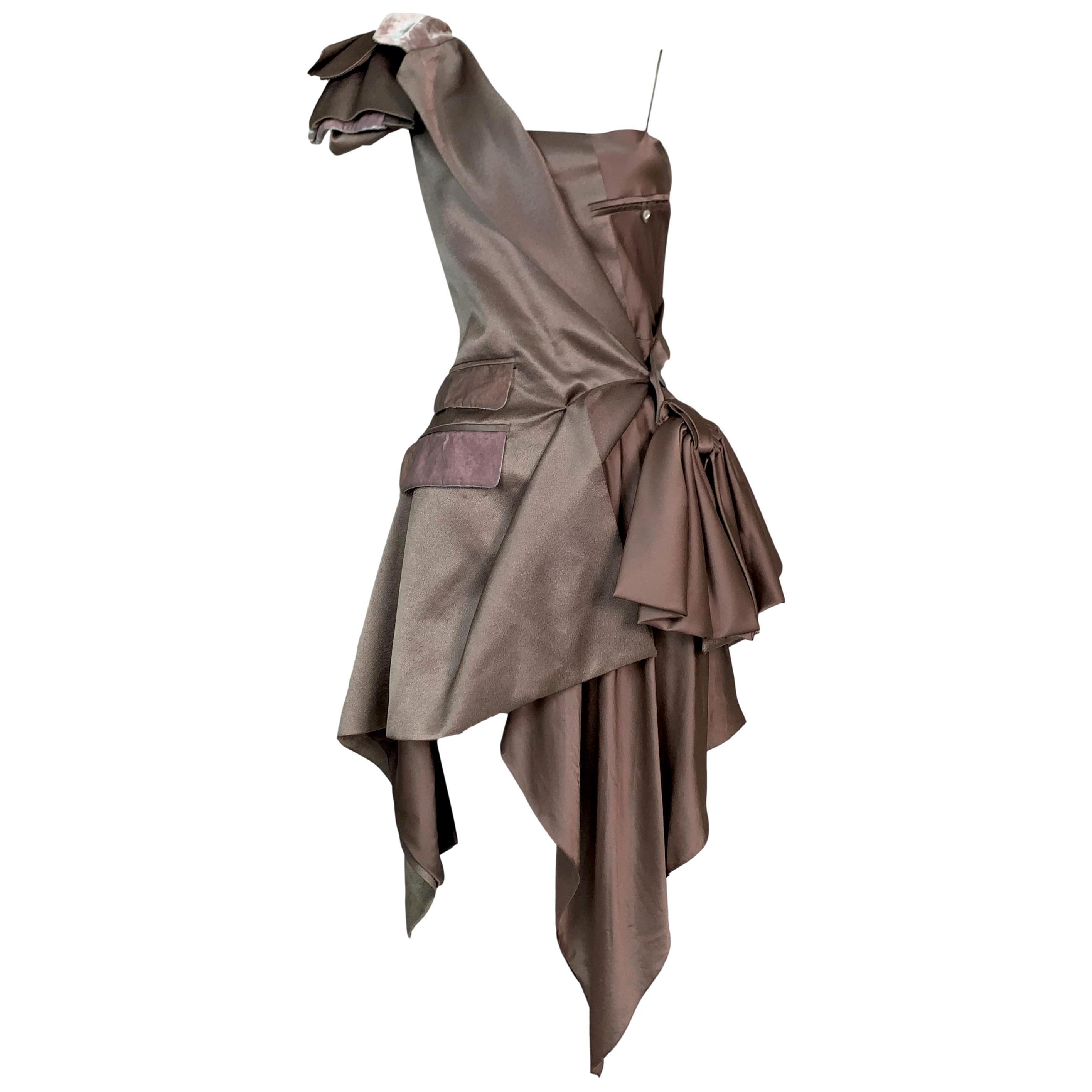 S/S 2000 John Galliano Runway Avant Garde Bow Mini Dress