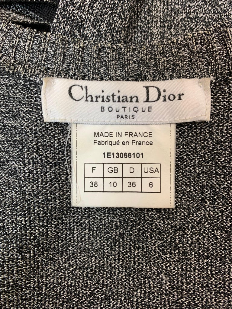 Women's S/S 2001 Christian Dior John Galliano Gray Slashed Sides Bodycon Dress For Sale