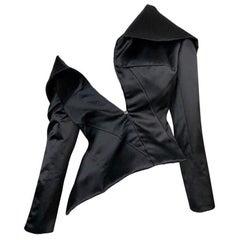 S/S 2001 Christian Dior John Galliano Haute Couture Avant Garde Black Jacket
