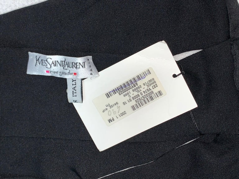 Women's S/S 2001 Yves Saint Laurent Tom Ford Runway Bandage Black Wrap Strap Top Belt M For Sale
