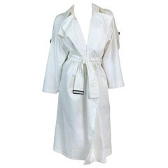 S/S 2001 Yves Saint Laurent Tom Ford White Trench Coat Jacket