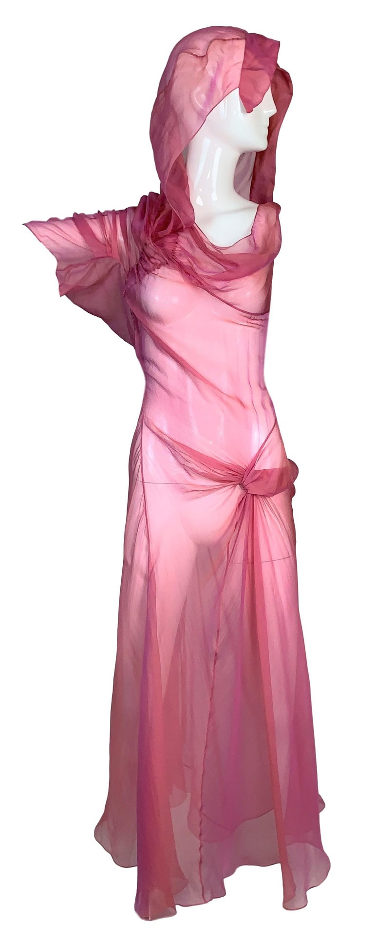 DESIGNER: S/S 2002 Christian Dior by John Galliano Runway  Please contact for more information and/or photos.  CONDITION: Good- light wear but no flaws- label is on the slip dress that can be worn underneath or separate  MATERIAL: 100% silk  COUNTRY