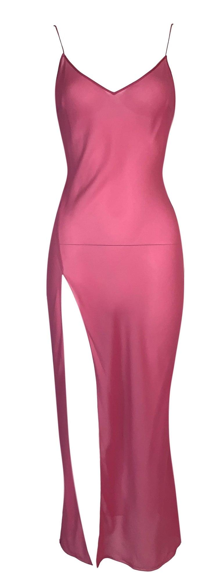 S/S 2002 Christian Dior John Galliano Runway Sheer Pink Hooded 2 Dresses 2