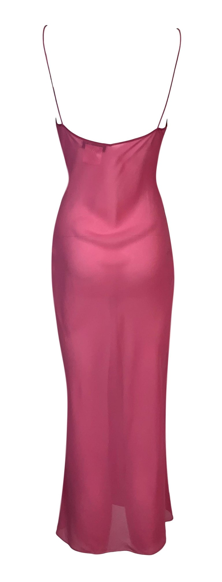 S/S 2002 Christian Dior John Galliano Runway Sheer Pink Hooded 2 Dresses 3