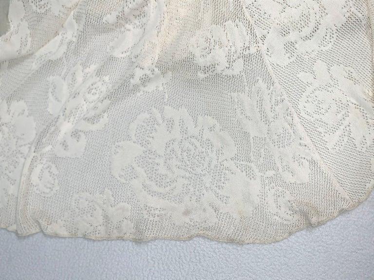 Women's S/S 2002 Christian Dior John Galliano Sheer Ivory Mesh Lace Maxi Dress For Sale