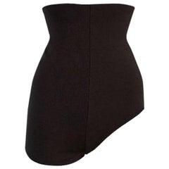 S/S 2002 Maison Martin Margiela Khaki High Waist Asymmetrical Shorty Shorts