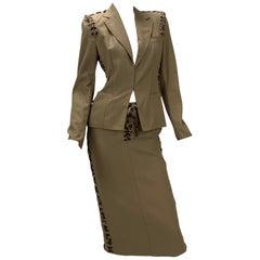 S/S 2002 Tom Ford for Yves Saint Laurent Safari Blazer and Skirt Suit
