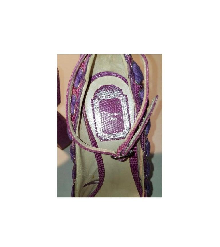 SS 2007 Christian Dior John Galliano Haute Couture Runway Samurai Japanese Heels For Sale 2