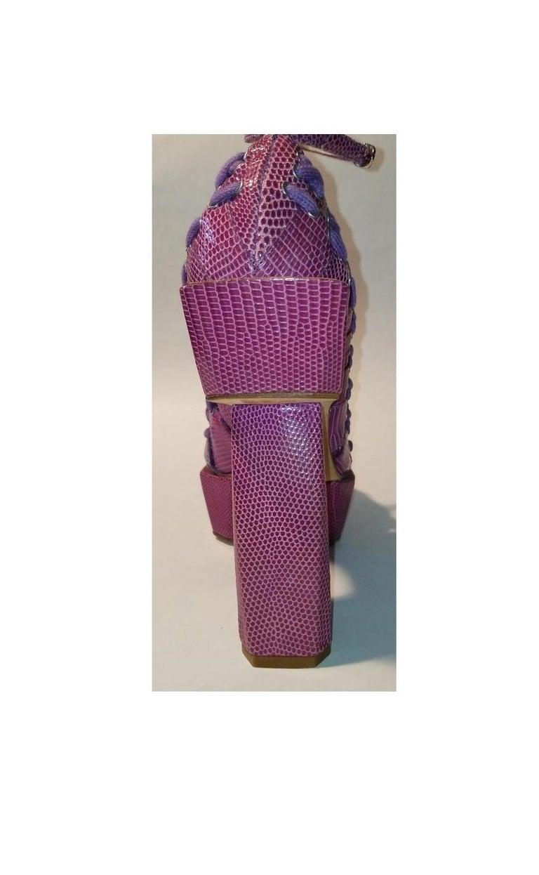 S/S 2003 Christian Dior John Galliano Haute Couture Samurai Japanese Pink Heels For Sale 2