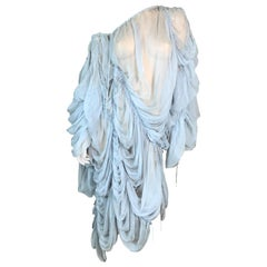 S/S 2003 Dolce & Gabbana Runway Sheer Baby Blue Silk Baggy Dress