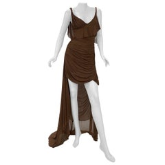 S/S 2003 Vintage Tom Ford For Gucci Greek Goddess Silk Gown as seen in Museum