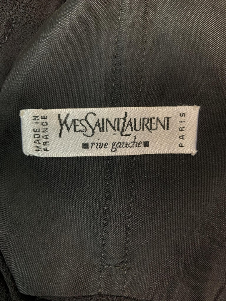 S/S 2003 Yves Saint Laurent Tom Ford 50's Pin-Up Black Silk Ruched Wiggle Dress  In Good Condition For Sale In Yukon, OK
