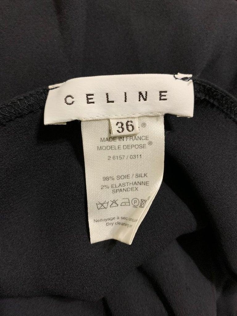 Women's S/S 2004 Celine by Michael Kors Long Black Cut-Out Plunging Dress 36 For Sale