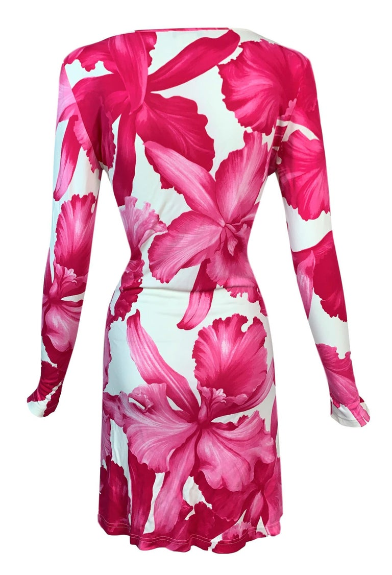 DESIGNER: S/S 2004 Celine by Michael Kors Runway- was shown on the runway in black and pink with the large flower on the chest- which has been removed on this dress.   Please contact for more information and/or photos.  CONDITION: Good- The only