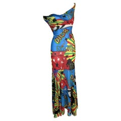 S/S 2004 Christian Dior John Galliano Sheer Rasta Silk Dress Scarf & Head Wrap