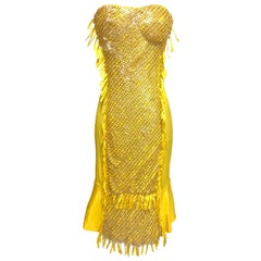 S/S 2004 Tom Ford for Gucci Embellished Silk Dress