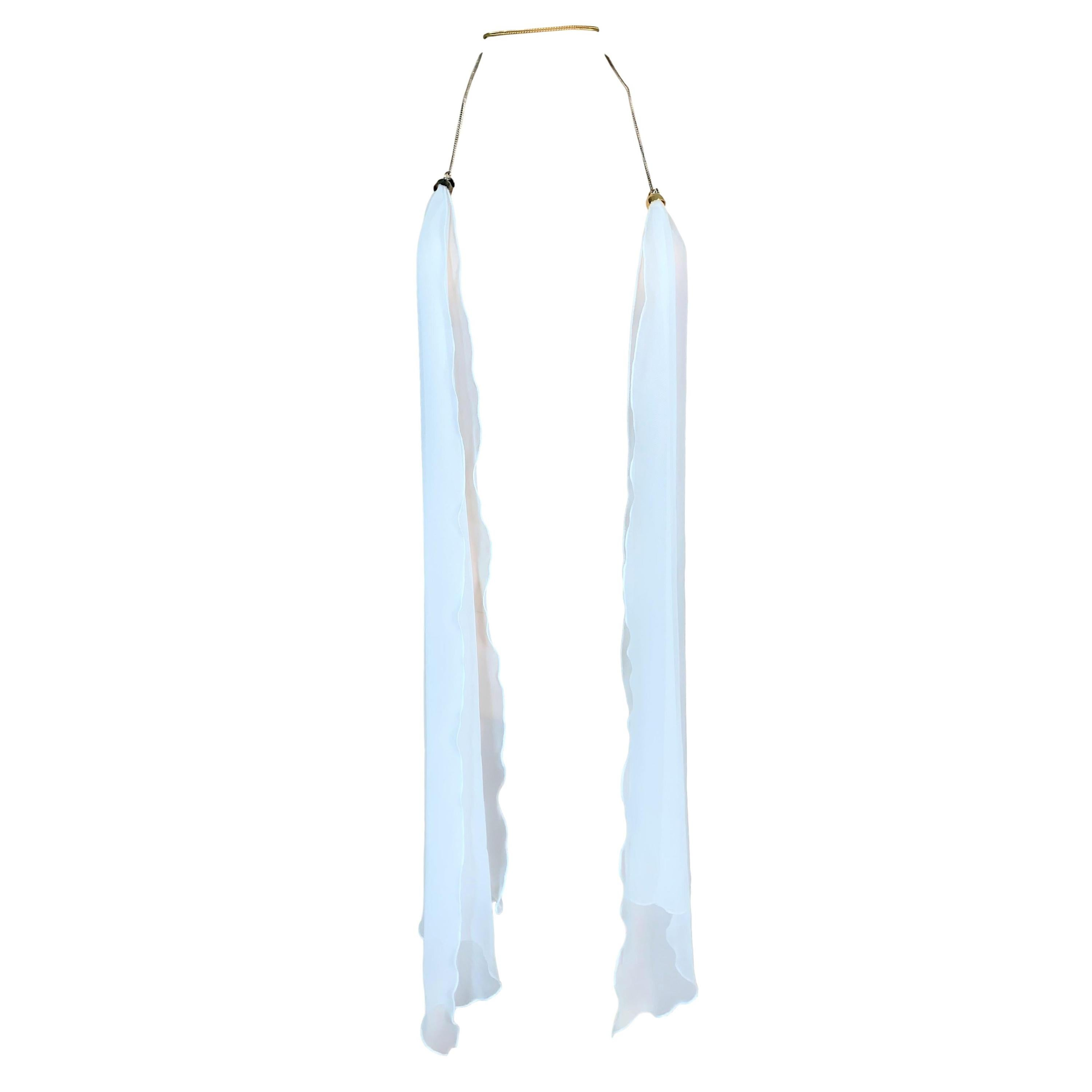 S/S 2006 Maison Martin Margiela Runway White Scarf Necklace Top
