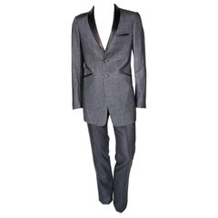 S/S 2011 look #7 NEW VERSACE GRAY WOOL and SILK SUIT 48 - 38 (M)