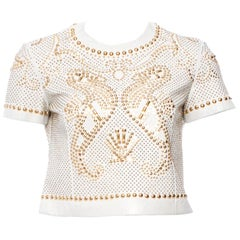 S/S 2012 VERSACE Studded Leather Crop Top