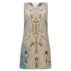 S/S 2013 Versace Embellished Silk Dress