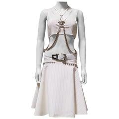 S/S 2014 look # 15 NEW VERSACE MEDUSA WHITE SKIRT TOP SET DRESS 38 - 4