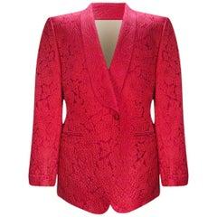 S/S 2014 Look #24 Tom Ford Red Brocade Cocktail Jacket Blazer for Men