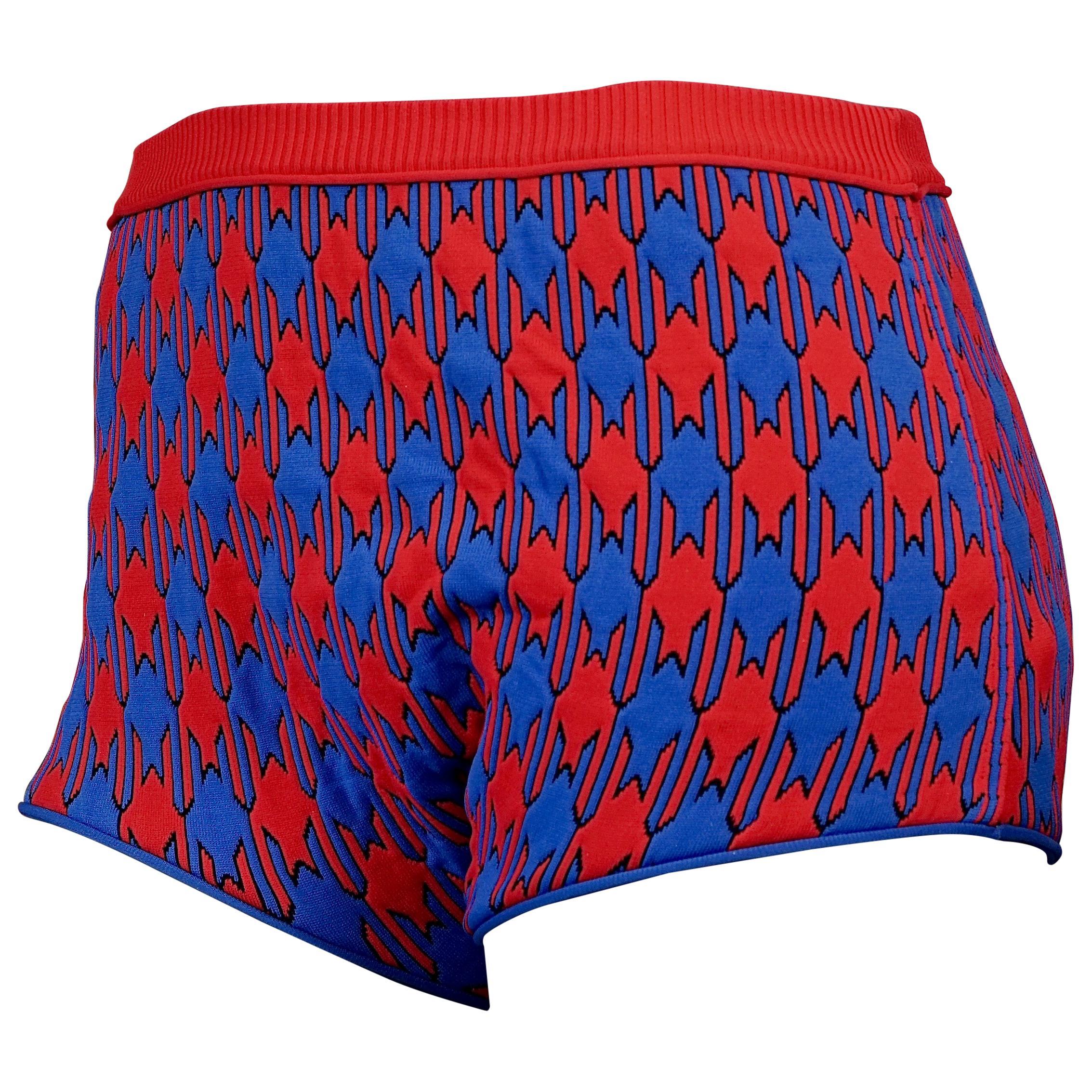 S/S 2015 CELINE Vibrant Diamond Jacquard Knit Shorts